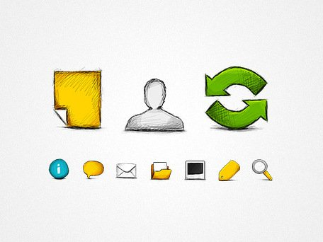 Hand Drawn Web icons