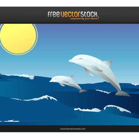 HAPPY DOLPHINS VECTOR.ai