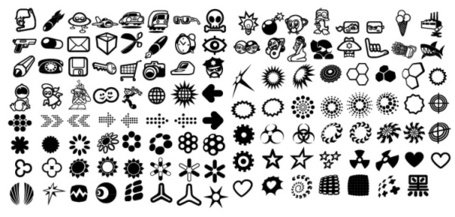 Elements of the icon elements 120 of the trend vector materi
