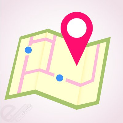 Free Vector Location Map