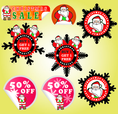 Adorable Promotional Christmas Sticker Pack
