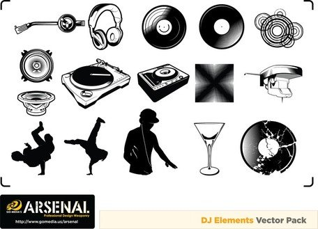 Go Media Produced Vector Set15Deejay Trend
