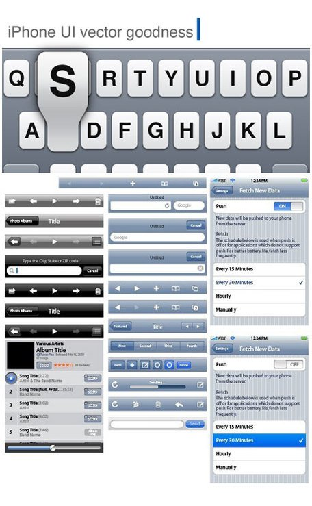 Elementos de la interfaz de usuario interfaz Design Toolkit iPhone