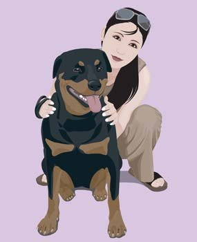 Girl and dog 10