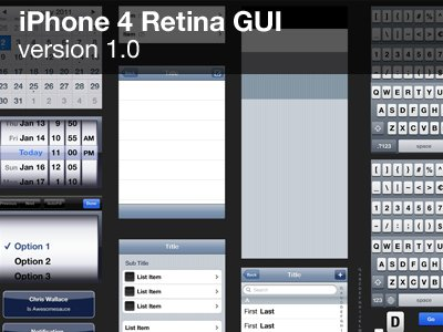 iPhone 4 GUI (Retina)