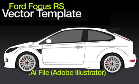 Ford Focus RS Free Vector Template