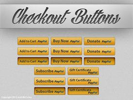 Checkout Button PSDs