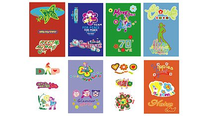 Materiale ragazza carina tendenza vector-Hippy