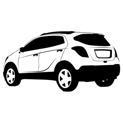 Black & White Hand Traced Opel Mokka SUV