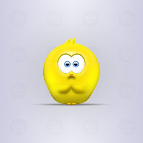 Sad Little Chick Vector Icon