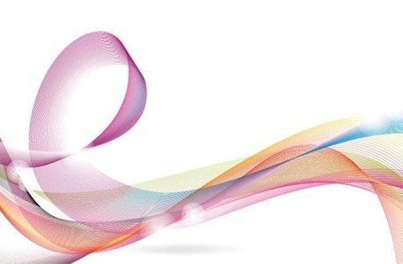 Designed Colorful Abstract Wave Background