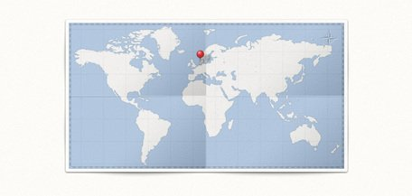World Map & Pin (PSD)