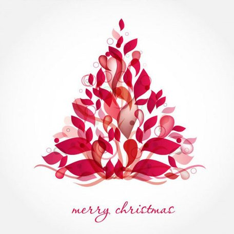 Abstract Design Christmas Tree Vector Art