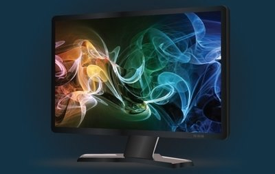 Wide Black LCD Monitor