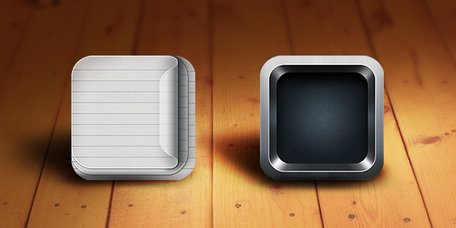 Retina-Ready iOS App Icon plantillas (PSD)