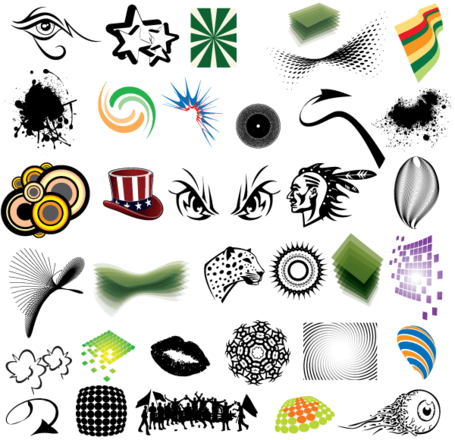 Free Vector Clip Art Elements Pack