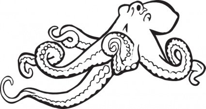 Coloring Book Octopus