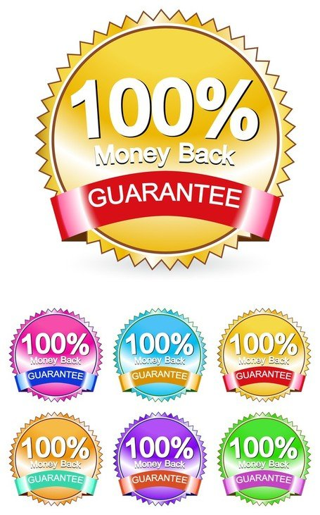 Money Back Guarantee Label