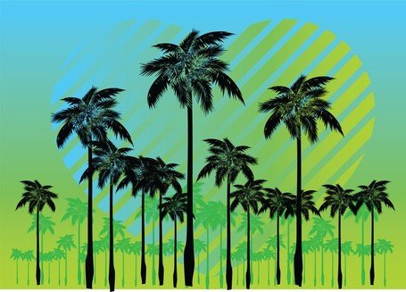 Gratis Palm Tree vectoren