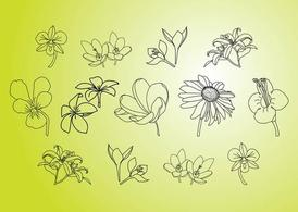 Vector bloem illustraties
