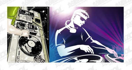 vector dj playing disc material clip art clipartme