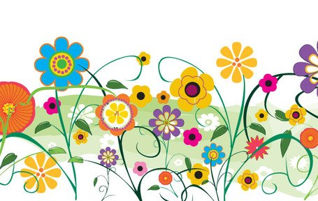 Vector Flowers And Florals Floral Garden Scenery vector graphics