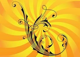 Swirly Vector bloem