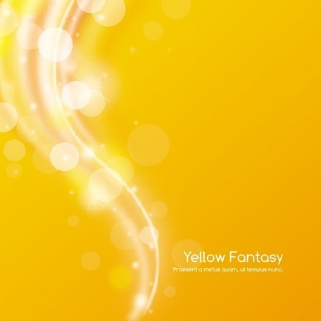 YELLOW FANTASY VECTOR BACKGROUND.eps