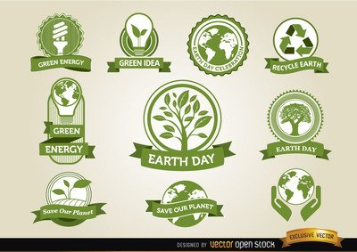 Earth Day etiketter