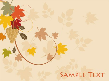 Abstract leaf background vector-2