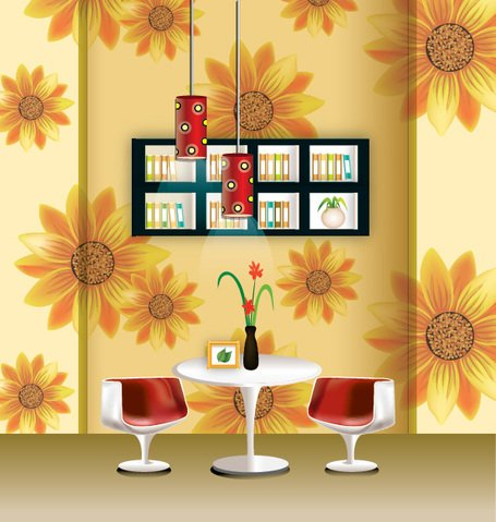 Vector Wallpaper pendant fashion home decoration