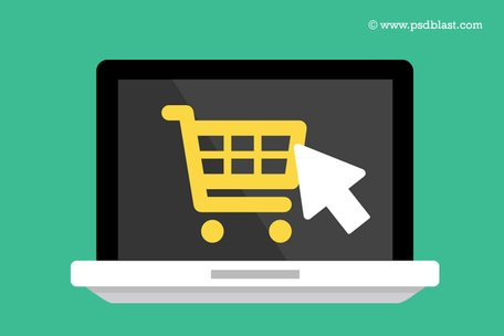 Flat Buy Online Icon (PSD)