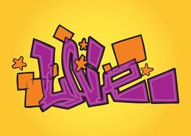 Liebe Graffiti Text