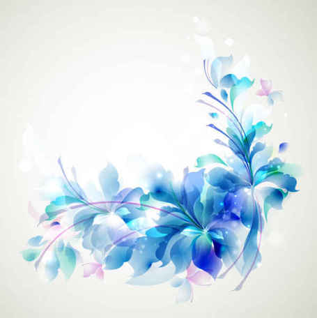 Elegant Blue Flower background