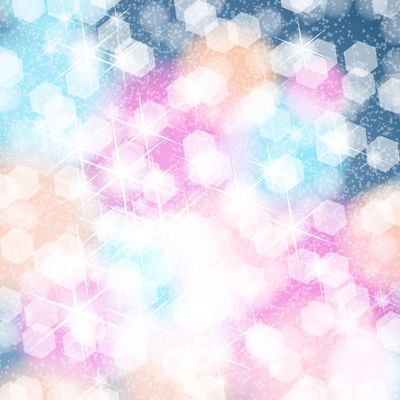 Shiny Colorful Background with Blinking Honeycomb