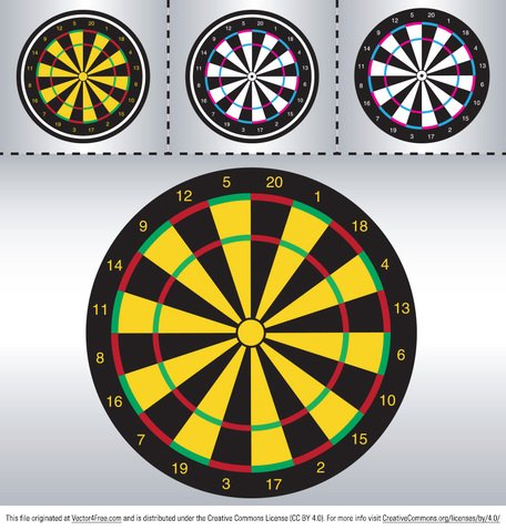 DART Board vectores