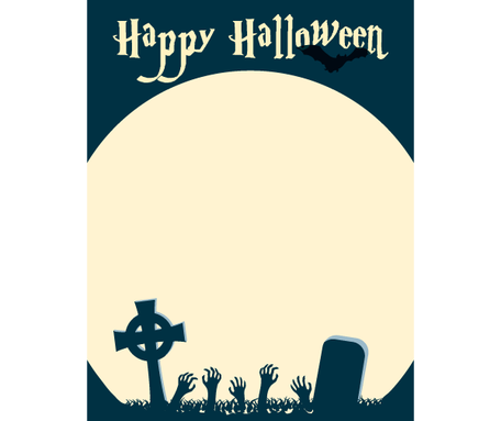 Happy Halloween Card Vector Graphic Clipart Me