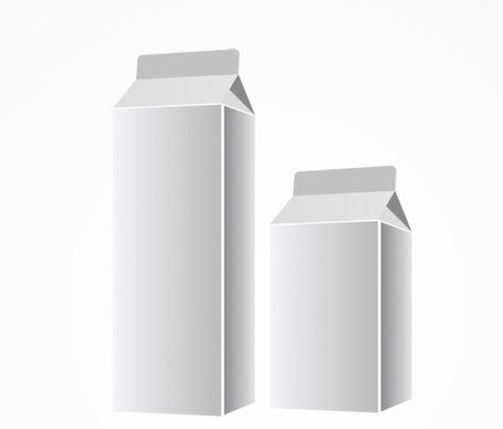 Blank Milk Packaging Vector Template (Free)