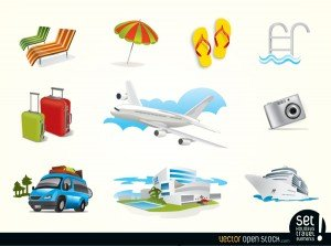 Elementos vectoriales gratis Holiday Travel