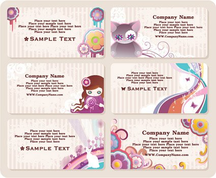 Lovely style business card template