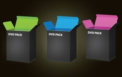 3D DVD Box Template Pack