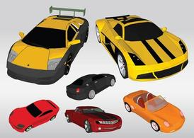 Racing Cars Vectors