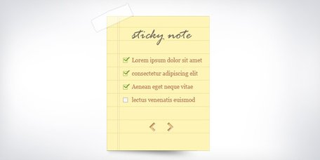 Sticky note and notepaper PSD