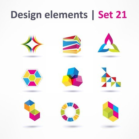 Beautiful Color Threedimensional Logo 03