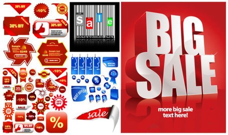 Discount sales poster icon