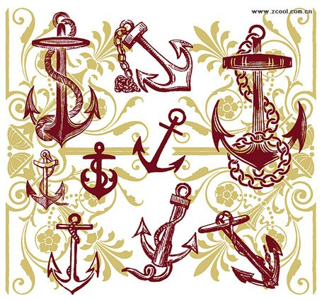 Anchor with the pattern