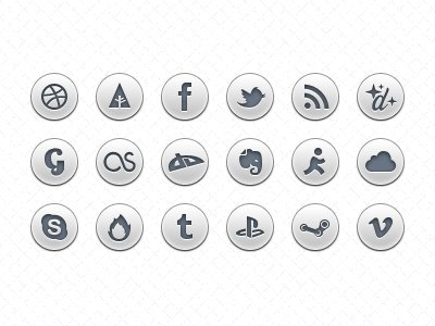 Simple Social Icons PSD