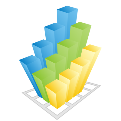 Colorful business 3d Graph