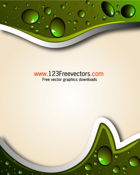 Abstract Background with Water Drops