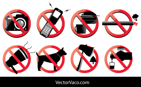 Free Prohibited Signs Vector Pack